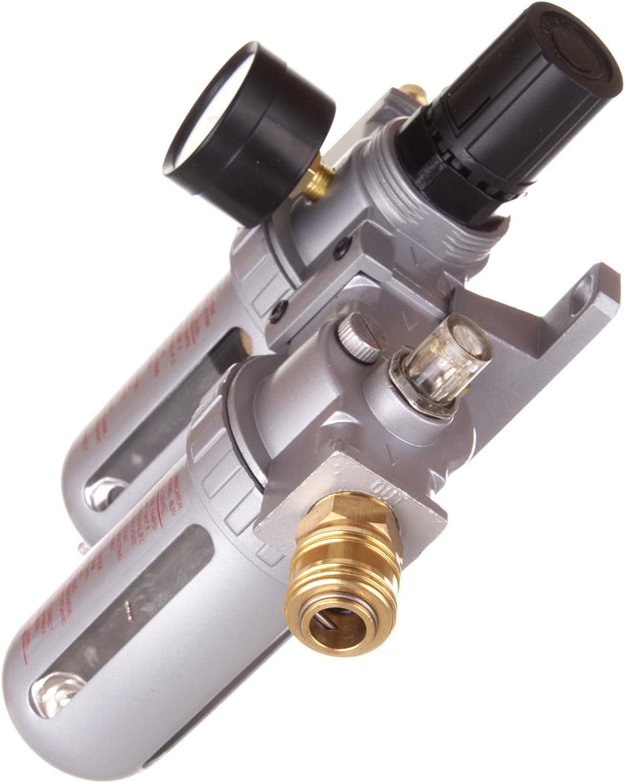 Unit/é de maintenance /à air comprim/é R/éducteur de pression Lubrificateur pour compresseur Visseuse /à percussion Raccord rapide