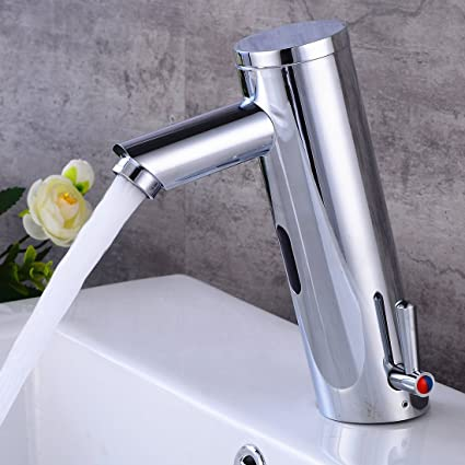 Fyeer Automatic Sensor Touchless Faucet, Motion Activated Hands Free  Bathroom Vessel Sink Tap,