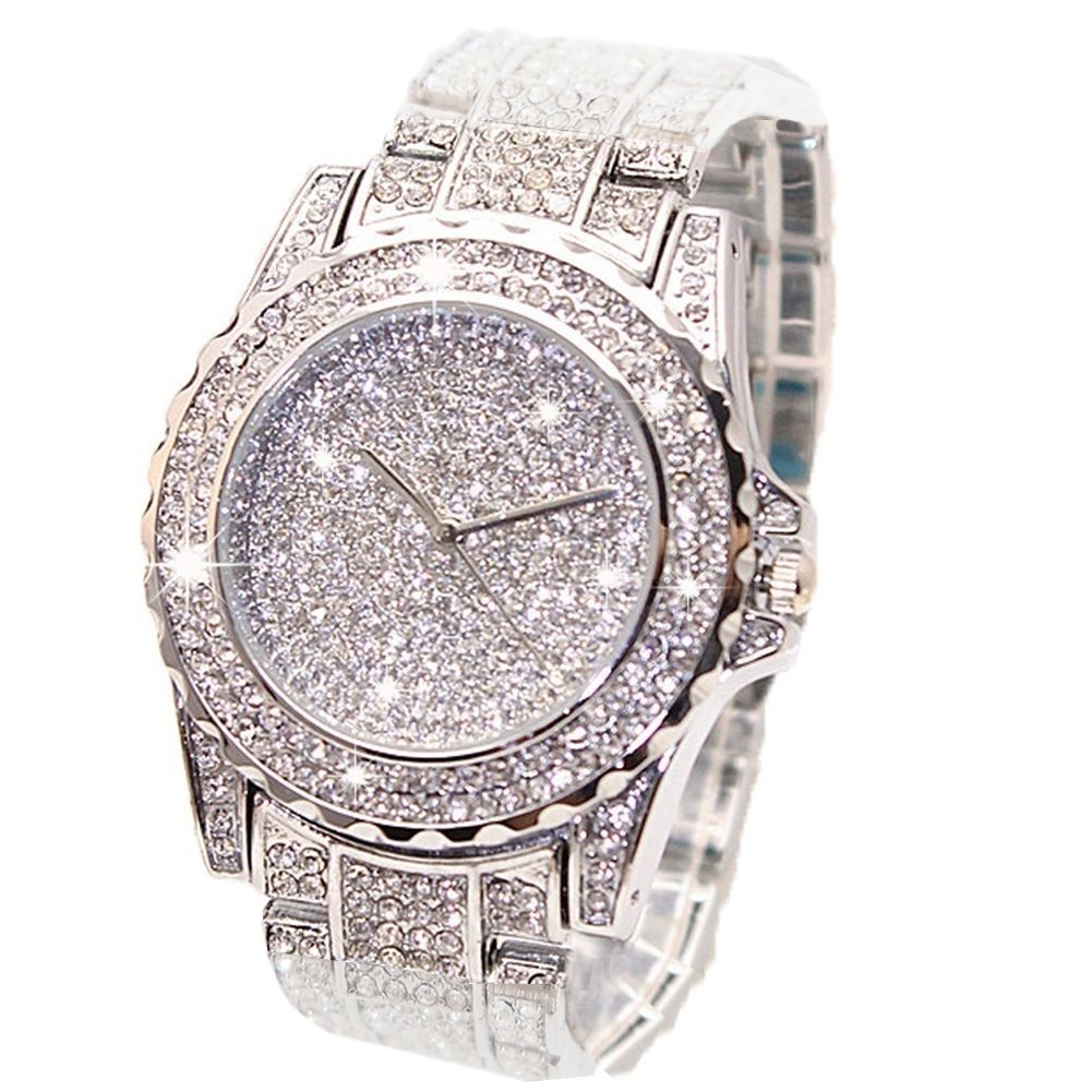 Amazon.com: Mens Hip Hop Luxury Iced Out Techno Pave Watch