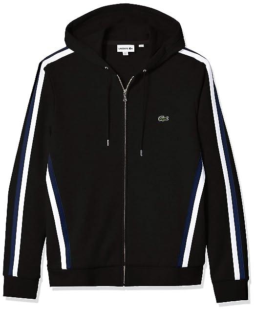 ydeevne sportsbeklædning seneste rabat lavere pris med Lacoste Men's Long Sleeve Striped Regular Fit Sweatshirt