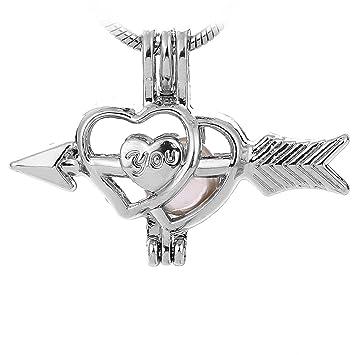 DLXK - 10 colgantes de perlas de acero inoxidable con forma de ...