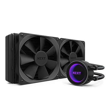 NZXT Kraken X52 240 mm - Refrigerador líquido de CPU RGB todo en uno - Con tecnología CAM - Bomba de alto rendimiento - Ventilador de radiador Aer P ...