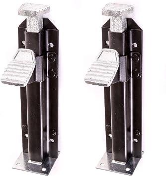 2 x tornillos de pie funciona para puertas/garajes/establos ...