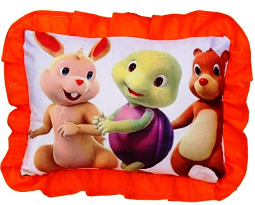 PRACHI TOYS Small Baby Cushion / Pillow for Kids with Cartoon Character (Red )