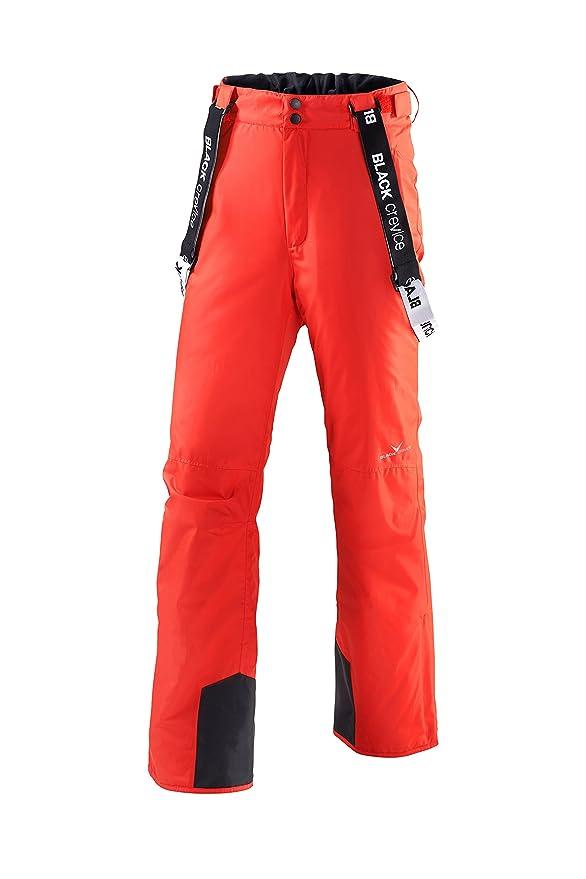 Pantalón de esquí para hombre de color naranja fosforito