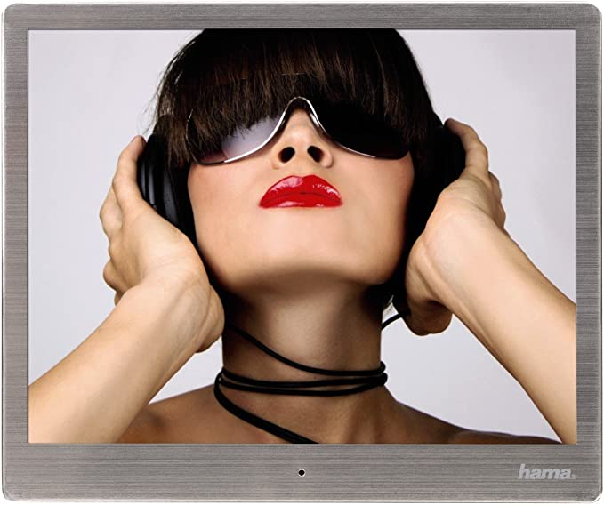 Hama Digitaler Bilderrahmen Slim Steel 9 7 Zoll Silber Kamera