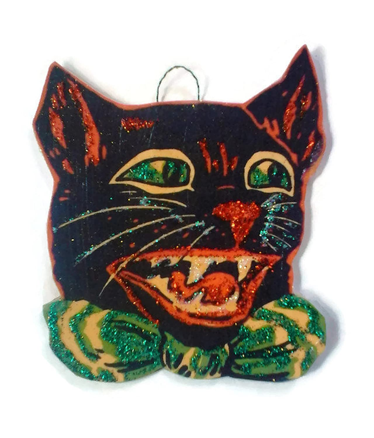 Halloween Ornament Decoration Scary Black Cat