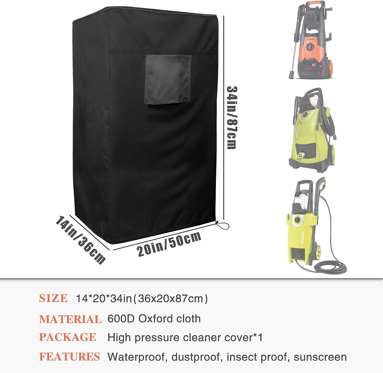 anti-UV,nero MBOOM Copertura per idropulitrice,multifunzione impermeabile antivento 50 x 36 x 87 cm