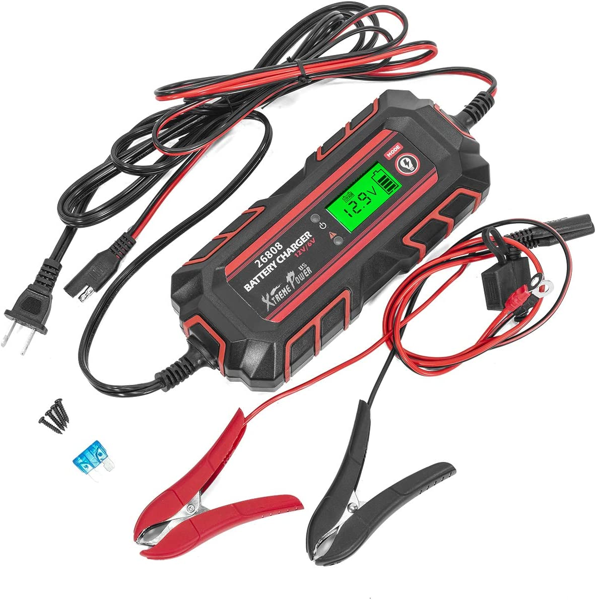Motorcycle GOOSUO Smart Battery Maintainer car Battery Charger//Jump Starter Boat 6//12V Trickle Charger for Car Truck Lawn Mower SUV ATV and More RV