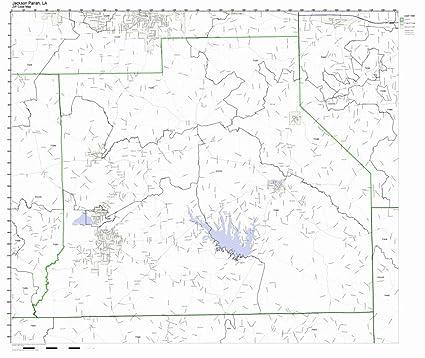 Amazon Com Jackson Parish Louisiana La Zip Code Map Not Laminated