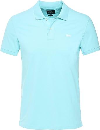 La Martina Hombres Camisa de Polo Scottie Fit Slim Azul Claro XXL ...