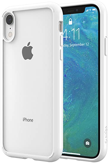 lowest price 2b9b2 87216 Amazon.com: Altigo iPhone XR Case - Clear Case with Solid White ...