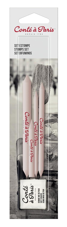 Conté à Paris - Pack de 3 Estompes + Tortillon + Gomme 50085 Crayon