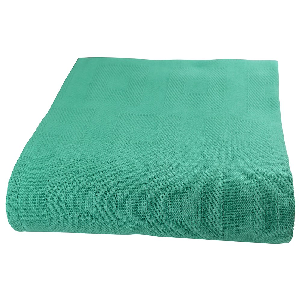 Sigmatex BK66903SGTL Healthcare Thermal Spread Blanket, Snag Free, 55% Cotton/45% Polyester, 66'' Width 90'' Length, 3.0 lb/ea., Teal, (12 ea)