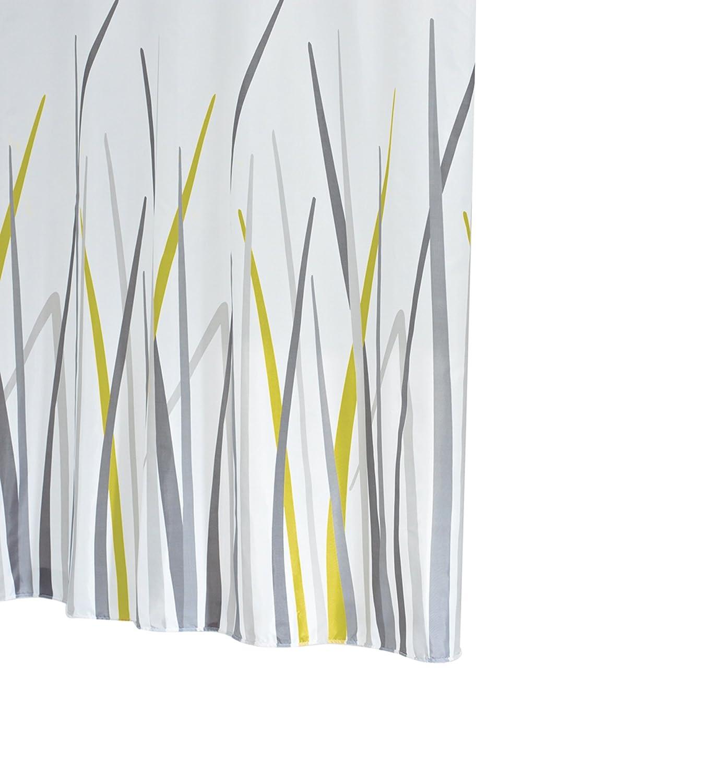 Ridder 423850-350 - Tenda doccia a decorazione erba, 180 x 200 cm, con occhielli 42385S-350