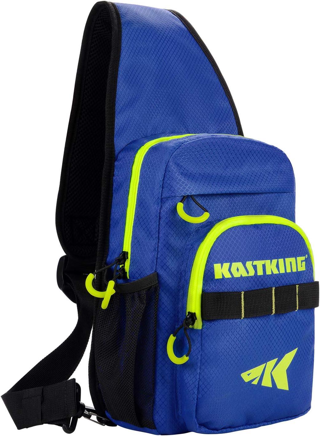 KastKing Sling Fishing Bag Ultra Light-Weight Design Fishing Packs for Fresh or Saltwater Fishing Sling Tool Bag for Hiking, Biking, Hunting, Camping or School