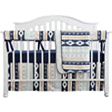 Baby Boy Crib Bedding Arizona Woodland Tribal Aztec Buck Nursery Crib Skirt Set Minky Blanket Navy Crib Sheet Crib Rail Beddi