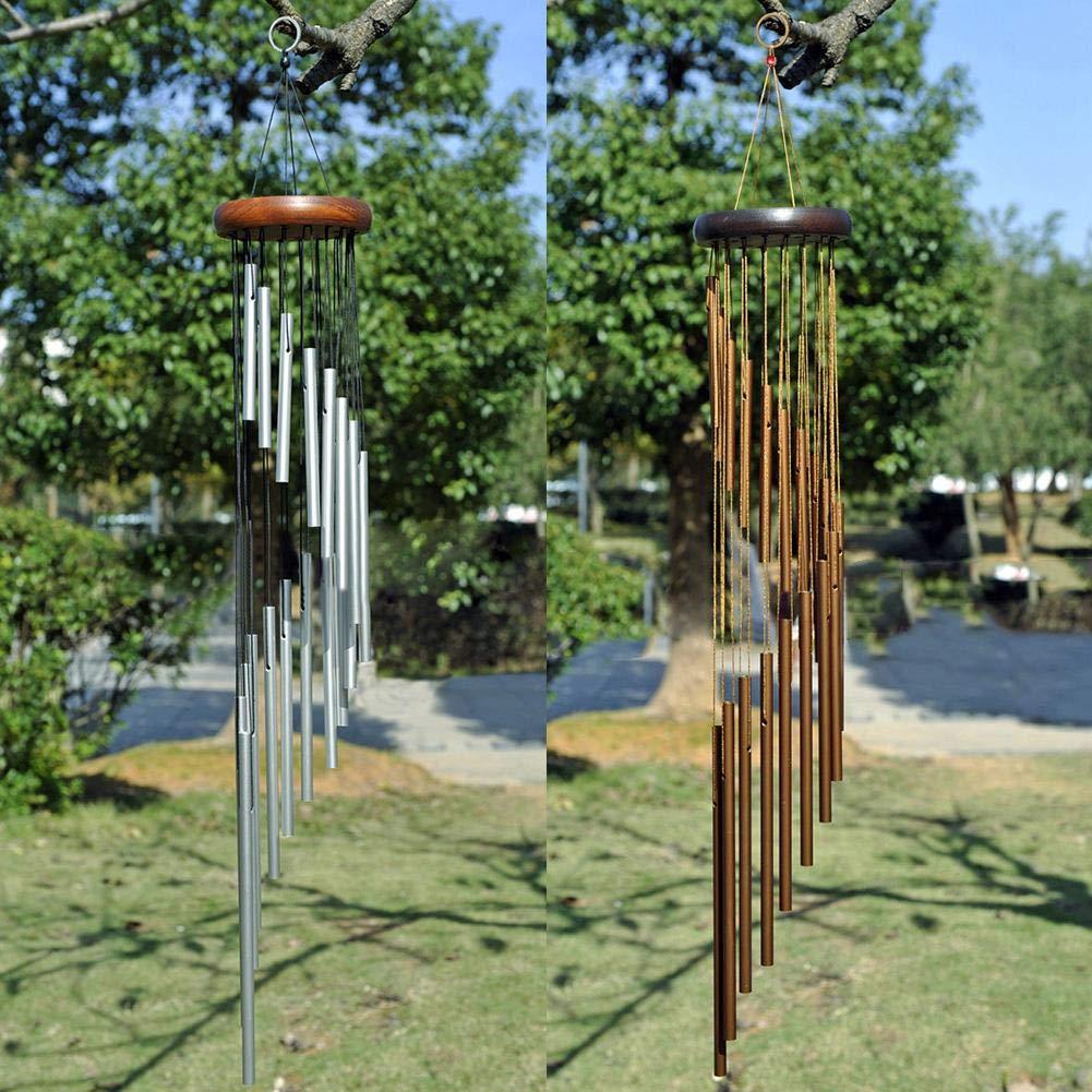 cypressen Lunghezza Totale 36 Pollici Scacciaspiriti a Spirale con Suono in Alluminio per Esterni e balconi Gold