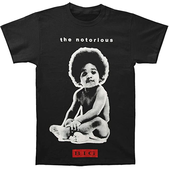 7dbc30a3501 Amazon.com  Notorious B.I.G............ Men s Notorious Big Baby T-Shirt  Black  Clothing