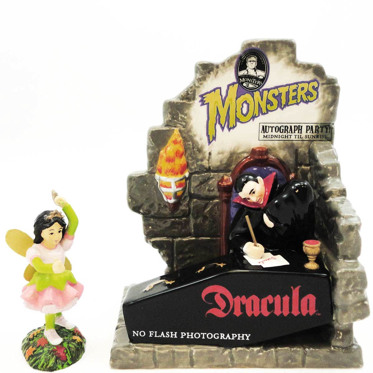 Dept 56 Accessories AUTOGRAPHS WITH DRACULA 799977 Halloween Snow Village Fairy