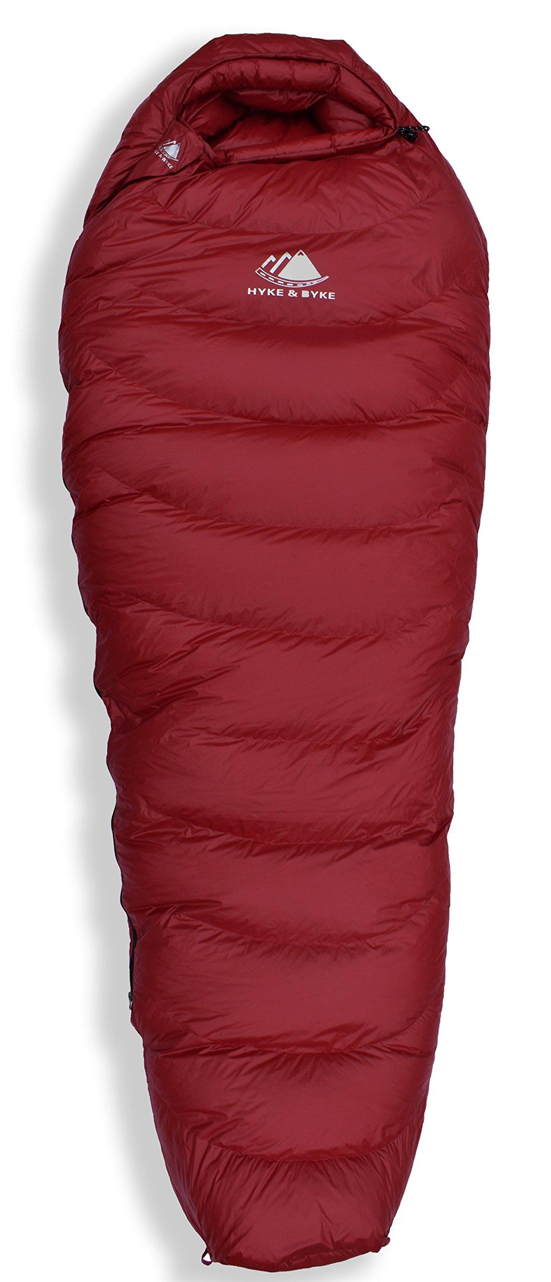 Hyke & Byke Quandary 15 Degree F 650 Fill Power Hydrophobic Down Sleeping Bag with ClusterLoft Base - Ultra Lightweight 3 Season Men's and Women's Mummy Bag Designed for Backpacking 7