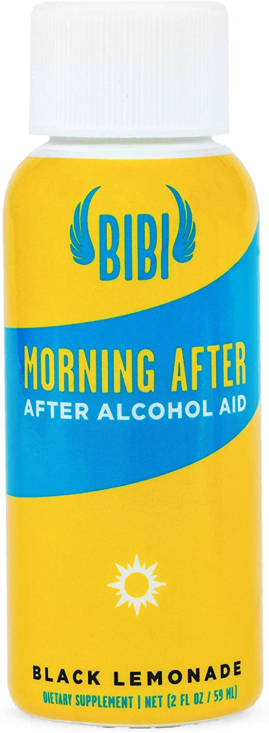 **New Item** Morning After Alcohol Detox Shot | for Hangover Relief + Hangover Cure, with Activated Charcoal, 5-HTP, Ginger Extract, Vitamin B6, Vitamin B12, Vitamin C (2 oz, Non-GMO, GF, 6Ct.)