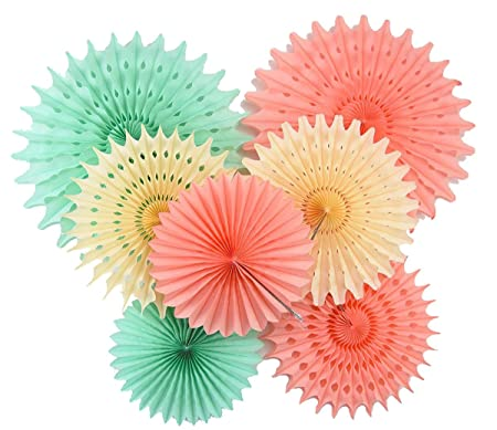 furuix paper honeycomb tissue paper fan mint green peach paper decorations hanging for baby shower bridal
