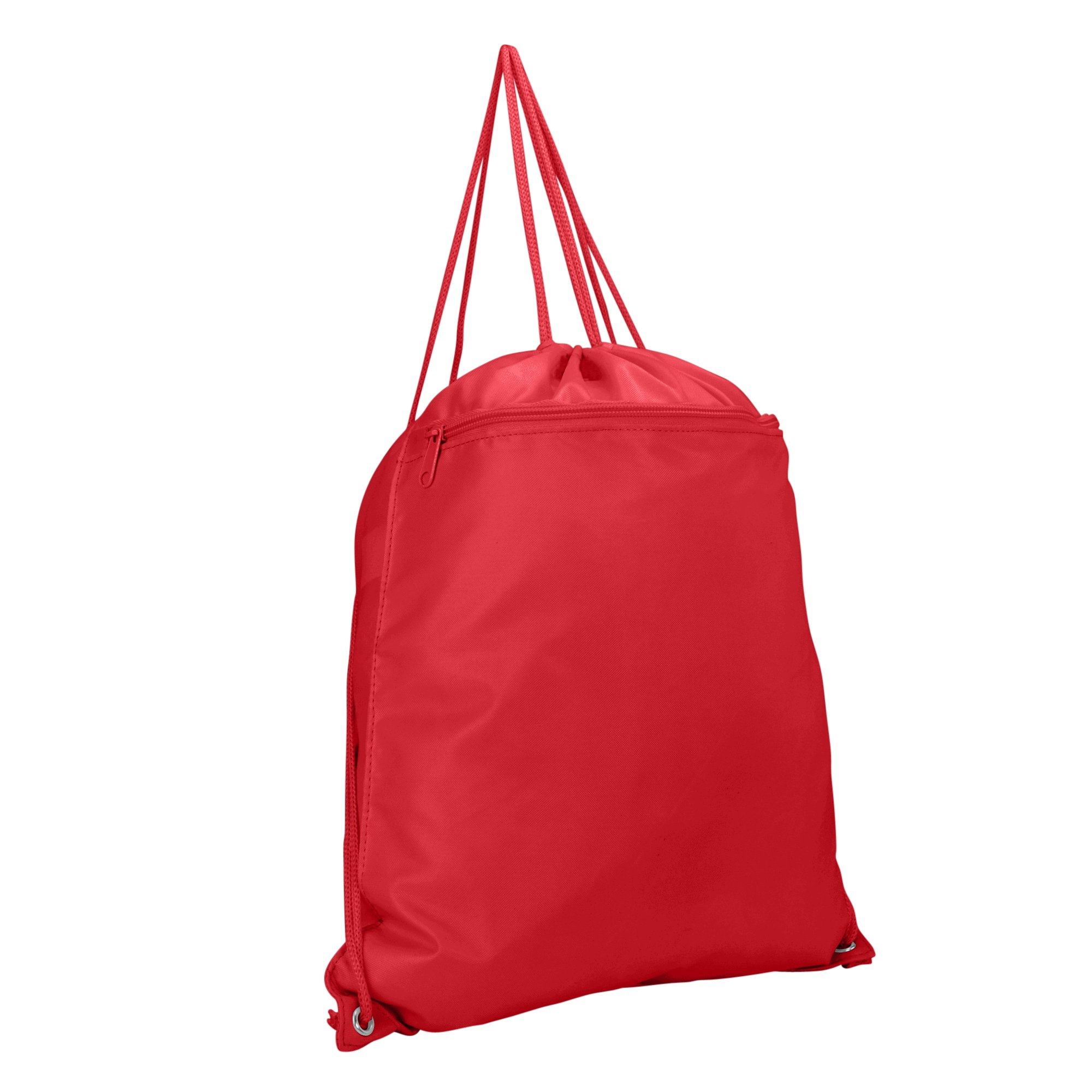 DALIX Sock Pack Drawstring Backpack Bag Sack in Red