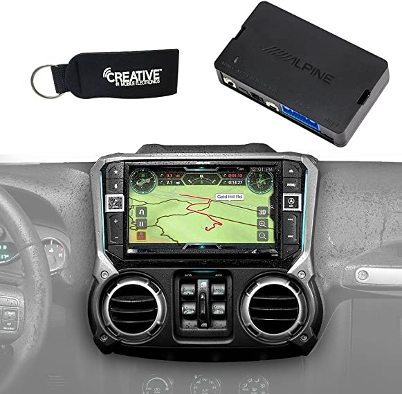 Alpine X209-WRA-OR 9-Inch Restyle System w Off-Road Mode KAC-001 Accessory Controller for Jeep Wrangler JKS 2011-2018