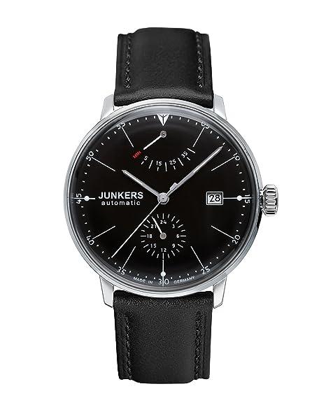Junkers Reloj Analógico Automático para Hombre con Correa de Cuero - 60602: Amazon.es: Relojes