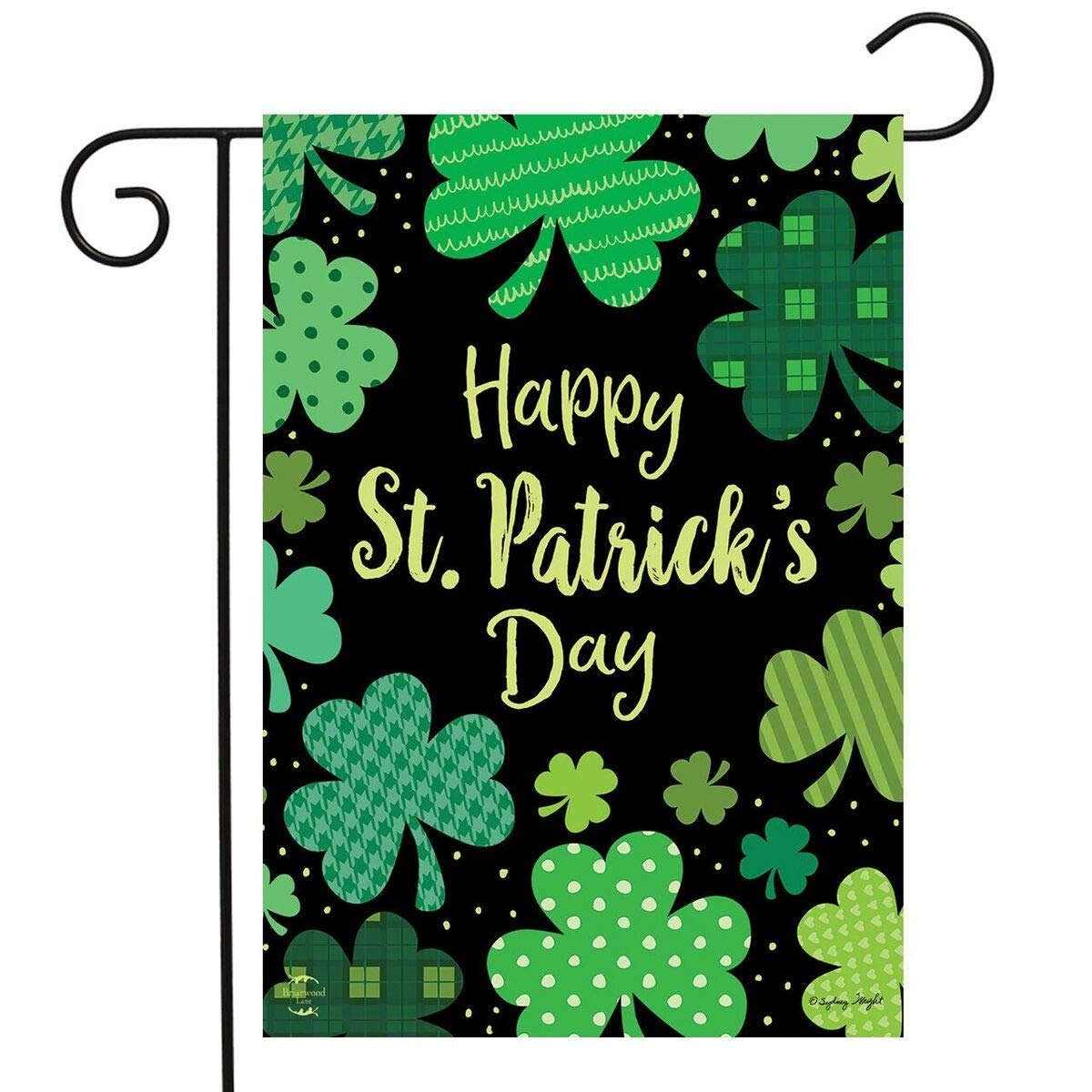 "Briarwood Lane St. Patrick's Day Clovers Garden Flag Shamrocks Holiday 12.5""x18"""