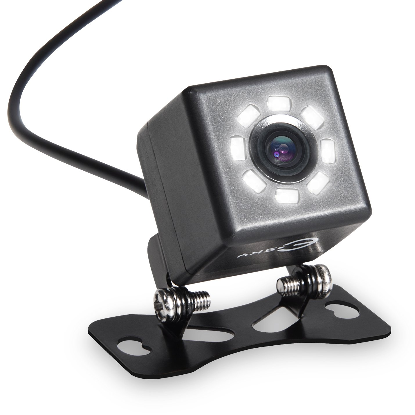Rear Backup Camera, Esky 8 LED Night Vision Car Front with Guideline, One Button Control EC170-27