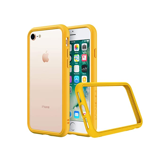 official photos 43c19 d4fb9 RhinoShield Bumper for iPhone 8/7 [CrashGuard NX] | Shock Absorbent Slim  Design Protective Cover [3.5M / 11ft Drop Protection] - Yellow