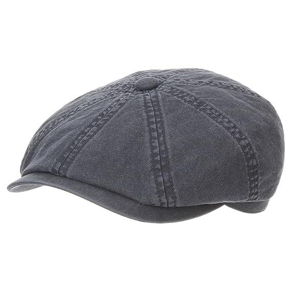 Stetson Hatteras Cotton Cap Flat S 54 55 Cm Blue 4f442382eb83