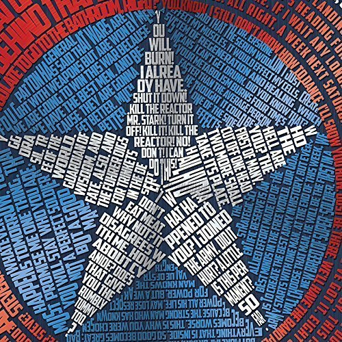 Captain America Shield word art print -11x17'' | wall home decor | typography art | comic book art | geeky gift by The Art of Scott W Smith (Image #2)