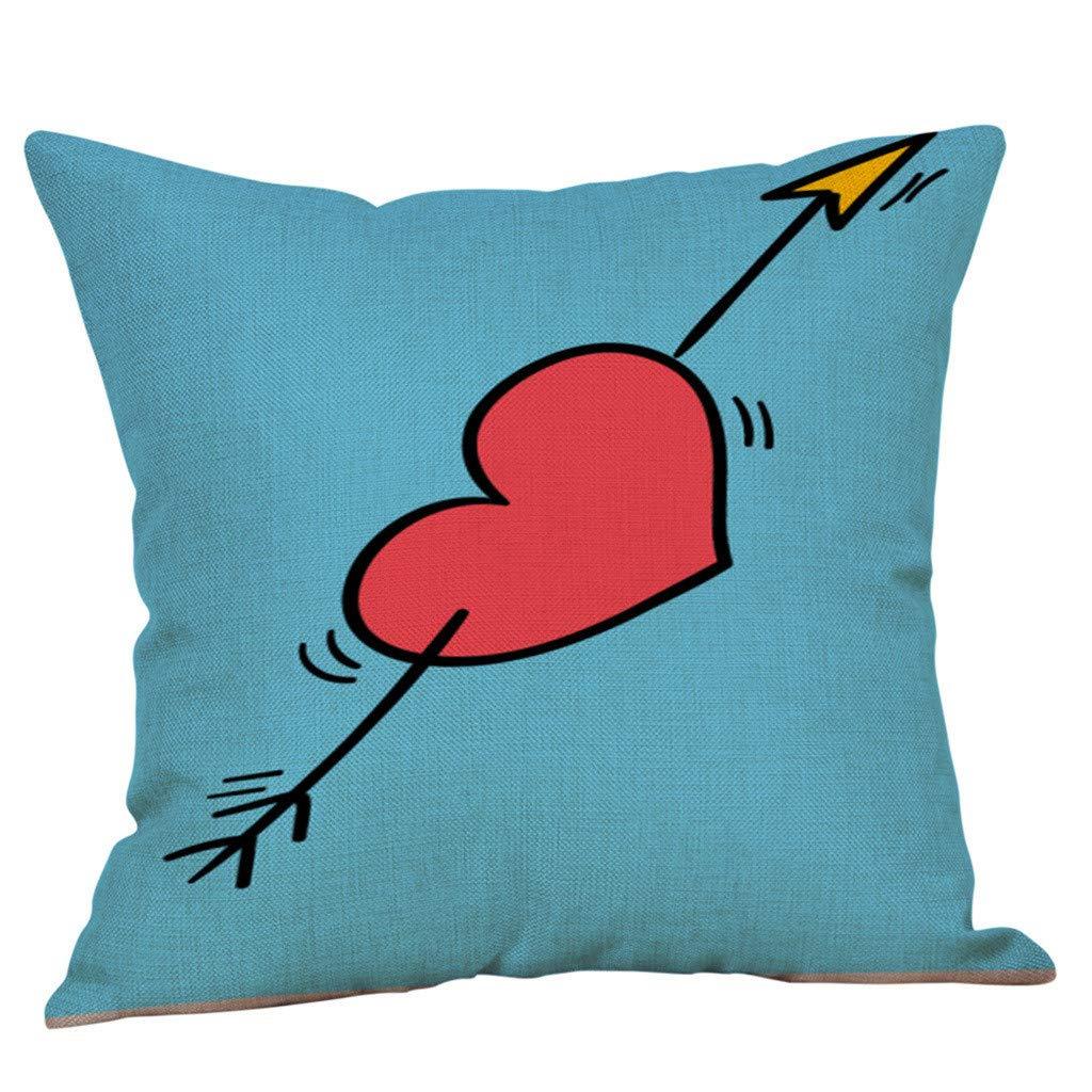 NPRADLA Cojín Fundas Happy Valentine Fundas de Almohada Sofá ...