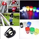 InnoLife- 6Pcs Set Silicone Waterproof Super Frog LED Bicycle bike Head Front Light (Black)
