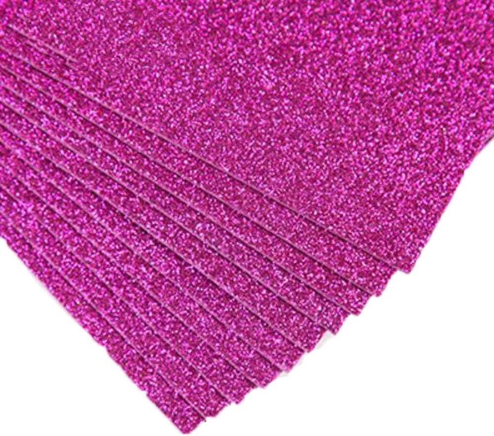 Black, Gillter Pack 10 A4 Glitter EVA Foam Sheets 2mm Creative Craft Sponge Paper Assorted Colours DIY Crafts Scrapbooking