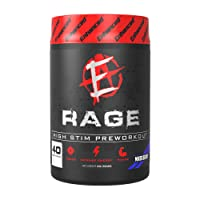 Enhanced Labs Rage Pre Workout Powder with Stimulants (40 Serving) for Men & Women – Muscle Building Energy, Strength & Endurance Supplement with L-theanine, Caffeine & Vitamins – Mixed Berry Flavor