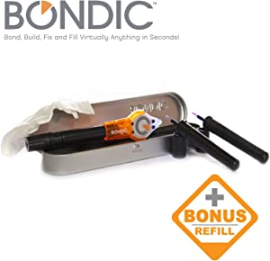 Bondic - Liquid Plastic Welder - LED UV Light Activated Bonding Tool - Waterproof and Heat Resistant - Pro Kit With (3) 4 Gram Adhesive Tubes and Microfiber Cloth