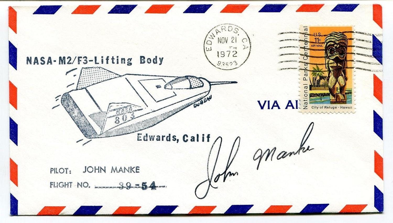 1972 NASA M2 F3 Lifting Body John Manke Edwards California Space Cover SIGNED