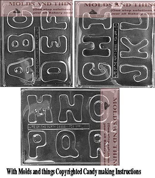 Letters X Y and Z Chocolate Mould