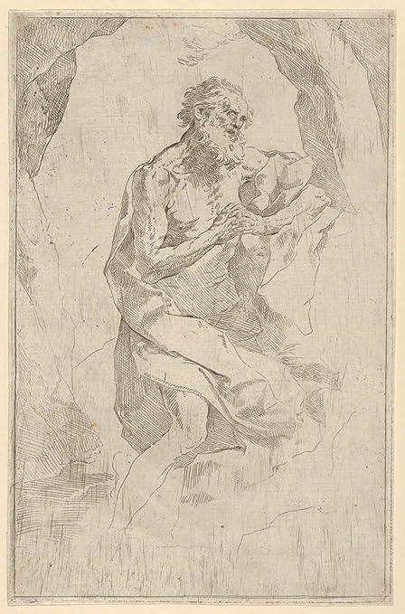 amazon com anonymous 17th century saint jerome kneeling on a