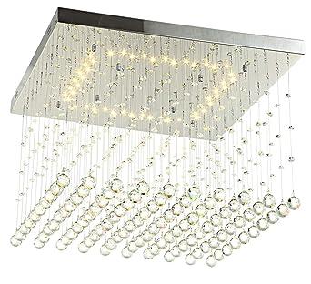 Led Deckenlampe Deckenleuchte Glas Kristall Strass Tropfchen Luster