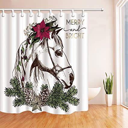 NYMB Wedding Decor Christmas Boho Horse With Pinecone Tree And Flower Mildew Resistant Polyester