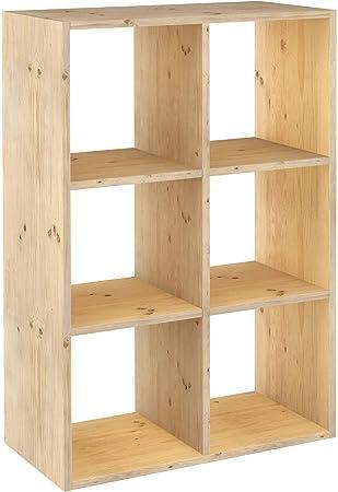ASTIGARRAGA KIT LINE Estantería modular 3 x 2 cubos DINAMIC