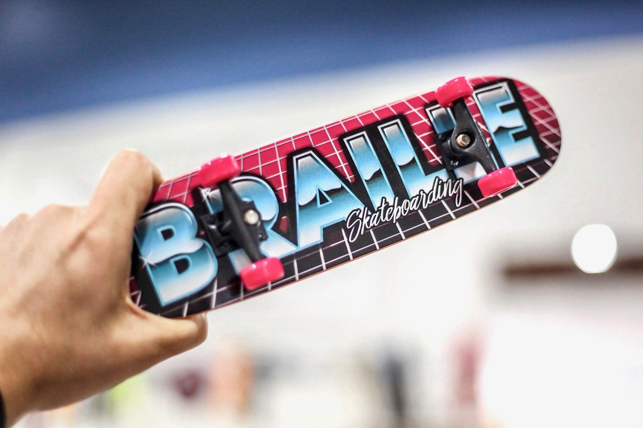 Braille Skateboarding Aaron Kyro 80's 11inch Professional Hand Board. Toy Skateboard Comes with Wheels, Trucks, Hardware and Tools. Real Griptape. by Braille Skateboarding