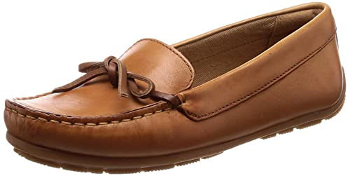 santo Experimentar detrás  Buy Clarks Women's Dameo Swing Light Tan Lea Leather Loafers - 4 UK/India  (37 EU)(91261328874040) at Amazon.in