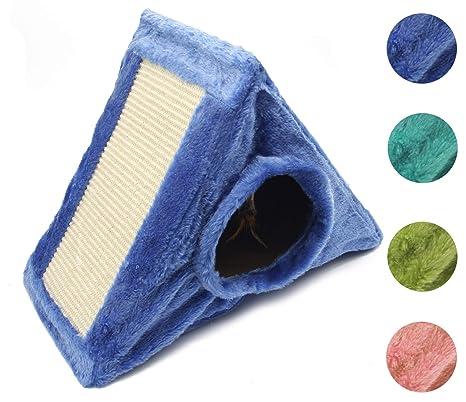 BPS Casa para Gatos Mascotas Portable Plegable Forma Triángulo con Juguete Interior Color Envia al Azar