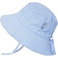 JAN & JUL Baby Sun-Hat, Breathable Cotton with Wide Brim, Adjustable for Growth, Unisex Kids - - L: 2-5Y
